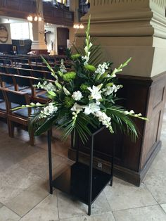 Church Pedestal Flower Arrangement