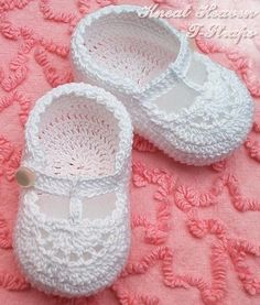 crochet baby shoe by Cathy Sentell Darland