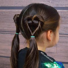 64 Trendy Hair Styles For Kids Girls Schools Crazy Hair Days – All About Hairstyles Valentine's Day Hairstyles, Braided Hairstyles For School, Little Girl Hairstyles, Trendy Hairstyles, Braid Hairstyles, Teenage Hairstyles, Toddler Hairstyles, School Hairdos, Hairstyle Ideas