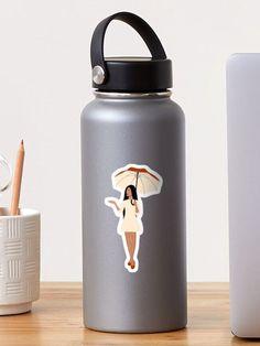 """Rain"" Sticker by Loucreations | Redbubble Artist Names, Water Bottle, Rain, Stickers, Prints, Design, Rain Fall, Water Bottles"