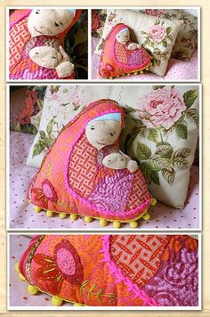 Motherhood doll pillow - madonna and child  - Made to Order. $55.00, via Etsy.