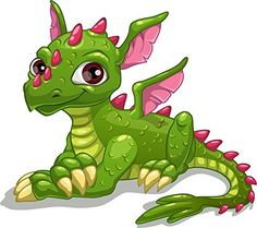 Illustration of Cute cartoon green dragon, isolated vector illustration vector art, clipart and stock vectors. Fantasy Dragon, Dragon Art, Cartoon Drawings, Animal Drawings, Dragon Drawings, Baby Dragon Tattoos, Cartoon Dragon, Cute Dragons, Green Dragon