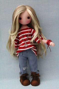 Diy Rag Dolls, Sewing Dolls, Diy Doll, Waldorf Dolls, Soft Dolls, Doll Crafts, Cute Dolls, Plush Dolls, Fabric Dolls