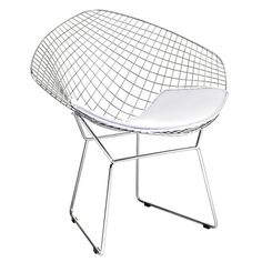 The Bertoia Style Diamond Lounge Chair adds sculptural interest to any room. The open metalwork gives the chairs a lightweight semi-transparent appearance, which fits seamlessly into any decor. Variation in tone and texture is normal in natural products such as wood and marble. | eBay!