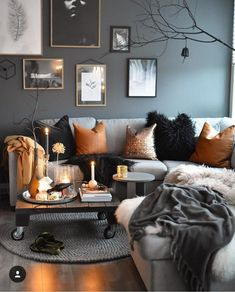 46 Cozy Living Room Decoration Ideas For This Winter. 46 Cozy Living Room Decoration Ideas For This Winter. Appreciate a warm and comfortable environment in your living room all through the winter season. Upgrade the space and welcome […] Living Room Decor Cozy, Home Living Room, Living Room Designs, Living Room Decor Orange, Copper Decor Living Room, Cozy Living Room Warm, Fall Bedroom Decor, Living Room Themes, Orange Home Decor