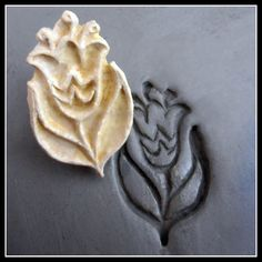 Handcarved Stamp Bisque Clay stamp for stamping on by MoldingU