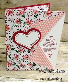 Collar fold Valentines card by holmesj - Cards and Paper Crafts at Splitcoaststampers