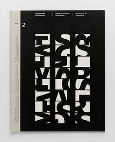 TM Typographische Monatsblätter, 2, 1993, Museum für Gestaltung Zürich. Design: Peter von Arx. Plus TM Research Archive