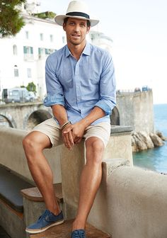New Moda Casual Masculina Outfits Summer Fashions Ideas Style Casual, Casual Outfits, Men Casual, Style Men, Casual Shorts Outfit, Sport Casual, Casual Wear, Outfit Strand, Mens Fashion Suits