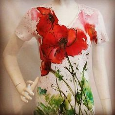 Poppy top - painted