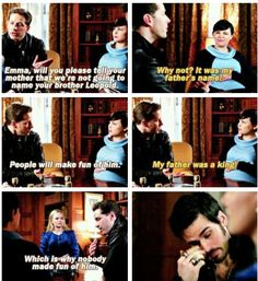 I feel bad for Hook, he's been like sitting there for a while listening to these two argue about their kid's name.