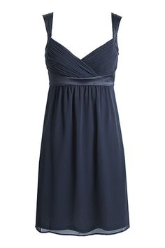 Chiffon and satin empire #dress by #Esprit