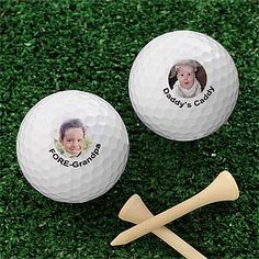 How cool! You can put your picture on a golf balls with your own message, too! Could be a great gag gift for friends or for fathers day!