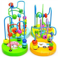 dipshop Baby Wooden Toy Mini Around Beads Wire Maze Educational Game Bauble. Lovely and creative design. Bright colors can attract your babies39 attention. High quality wood polished smooth. Description. Material Woodnontoxic paint.