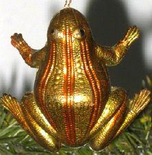 §§§ : vintage Dresden cardboard frog ornament