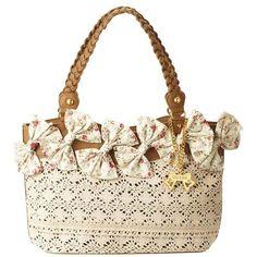バッグ(リボンレースバッグ) | リズリサ(バッグ&ウォレット)(LIZ LISA Bag&Wallet) | ファッション通販... ❤ liked on Polyvore featuring bags, wallets, bolsas, purses, taschen and torbe