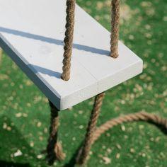 Huśtawka Ogrodowa (Nie Tylko dla Dziecka) - DIY - — HOUSE LOVES Garden Swing Seat, Backyard Swings, Fire Pit Patio, 40th Birthday, Panel Walls, Diy, Coffee Cake, House, Gardens