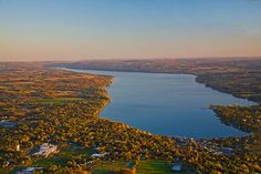 View of Skaneateles Lake ... one of the Finger Lakes in New York State.