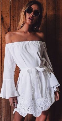 #summer #mishkahboutique #outfits | White Lace Dress