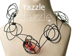 wire and Swarovski crystal Tsunami necklace by Lilian Chen - from Razzle Dazzle: Using Crystals in Wire Jewelry and the Latest from Swarovski - Jewelry Making Daily