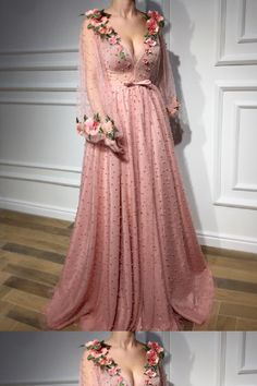 Buy Floral Long Sleeve Pink Prom Dresses, Pearl Beaded V Neck Formal Dresses uk in uk.Rock one of the season's hottest looks in a burgundy homecoming dress or choose a timeless classic little black dress. Formal Dresses Uk, Fancy Prom Dresses, Burgundy Homecoming Dresses, V Neck Prom Dresses, Beaded Prom Dress, Tulle Dress, Pretty Dresses, Beautiful Dresses, Dress Prom
