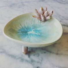 Your place to buy and sell all things handmade Light Blue Green, The Dish, Serving Bowls, Sculpting, Porcelain, Ceramics, Dishes, Mugs, Crystals