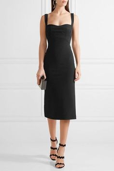 Dion Lee - Stretch-ponte Midi Dress - Black - UK10