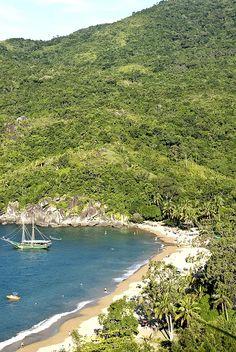 Praia do Jabaquara - a beach on Ilhabela, an Island just south of the São Paulo coast, Brazil