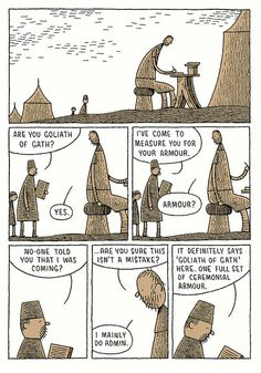 Tom Gauld's Goliath...I might buy and read this.
