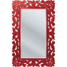 Mirror Palazzo Rectangular Red 132x85cm - KARE Design