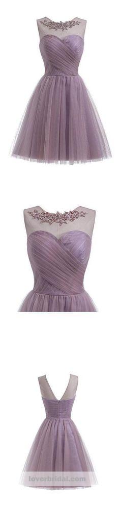 2018 Dusty Purple Cheap Short Homecoming Dresses O Simple Homecoming Dresses, Cheap Prom Dresses, Cheap Wedding Dress, Wedding Dresses, Dusty Purple, Prom Dresses Online, Dream Dress, Dress Making, Evening Dresses