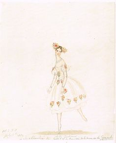 Queen Victorias drawings Princess Victorias sketch of the great ballerina Marie Taglioni from July 13, 1834. After seeing Marie Taglioni in La Sylphide, Victoria wrote in her journal She danced quite beautifully, quite as if she flew in the air, so gracefully and lightly When she bounds and skips along the stage, it is quite beaitiful. Quite like a fawn. And she has grace in every action. The motion of her arms and beautiful hands are so graceful, and she has