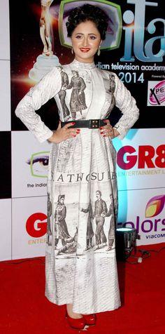 Rashami Desai at the 14th Indian Television Academy Awards 2014.