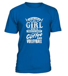 Volleyball T Shirts   Happy With Coffee And Volleyball  #tshirtsfashion #tshirtwomen #tshirtmen #tshirtprinting