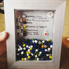 Beads of Courage Display.  Cute, creative, and interactive way of incentives for children undergoing multiple treatments.  Gives them a sense of accomplishment and a want to set goals!