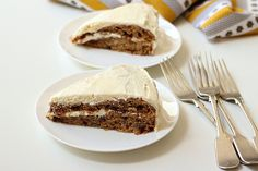 Banana Rum Choc-Chip Cake with Brown Butter Frosting  | #dessert #cake #food