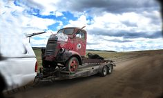 my 48 dodge coe all loaded up for the trip home