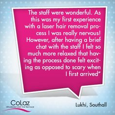 Our Southall client was amazed by our service. Have you tried our service? Advanced Beauty, Have You Tried, Laser Hair Removal, Appreciation
