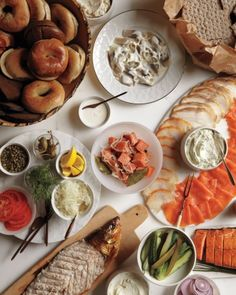 The story of russ and daughters breakfast and brunch recipes Brunch Recipes, Healthy Dinner Recipes, Great Recipes, Healthy Snacks, Breakfast Recipes, Breakfast Ideas, Brunch Food, Favorite Recipes, Brunch Party