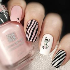 Sweet Soft Pink Nails Decorated With Zebra Print ❤️ Learn how to do zebra print nails in the easiest way possible. Embrace the power of wild nail art! Pink Zebra Nails, Zebra Nail Art, Soft Pink Nails, Zebra Print Nails, Animal Nail Art, Love Nails, Pretty Nails, Zebra Nail Designs, Best Nail Art Designs
