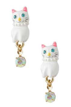 {Cat Drop Earring}s by Betsey Johnson