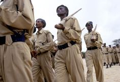 New Police officers practice for their passing out ceremony, Madhera, Self Declared Independent country of Somaliland Somaliland is a self-declared independent country in the Horn of Africa.