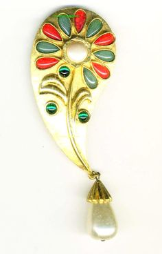 Vintage French BROOCH  signed REVILLON PARIS by FascinatingHobbies