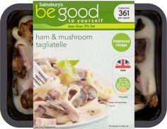 Sainsbury's Be Good to Yourself Ham & Roasted Mushroom Tagliatelle (400g)