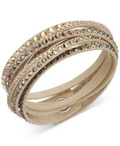 Swarovski Slake Deluxe Crystal Stud Wrap Bracelet. I love it in the white