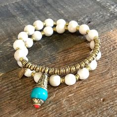 Introducing Riverstone to our collection, wear this stone to enhance energy for your daily life activities. #bracelet