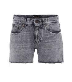 Pleated cotton shorts Saint Laurent SpgJG