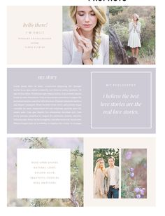 Say goodbye to boring About Pages!Each design comes as a layered photoshop file with instruction file and links to fonts.Final design is one single image for you to upload into your about page with one link if applicable.