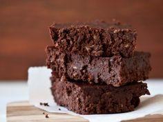Chocolate brownie (pecans, almonds, dates and cacao) by Kim Beach.  #vegan #dairyfree