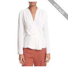 Women's Elizabeth And James Layla Pleated Wrap Blouse